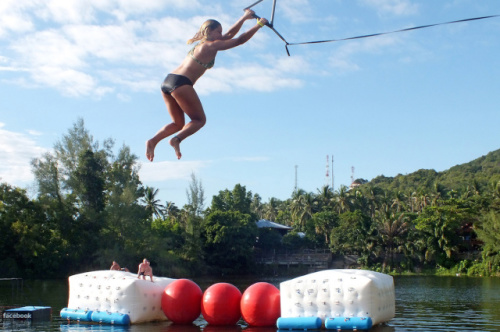 Koh Phangan's obstacle course
